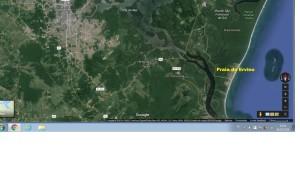 Praia do Ervino Google